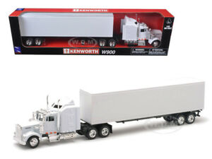 KENWORTH W900 PLAIN WHITE UNMARKED TRUCK 1/43 MODEL BY NEW RAY 15843