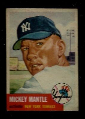 1953 TOPPS #82 MICKEY MANTLE UNGRADED NM-MT NEW YORK YANKEES HOF 2ND CARD