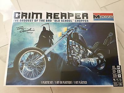 MONOGRAM 1/8 GRIM REAPER CHOPPER BY TOM DANIELS MOTORCYCLE MODEL  # 85-7541 F/S