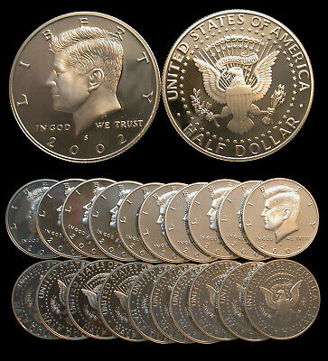 2005 S 90/% Silver Proof KENNEDY Half Dollar Roll 20 Coins 50c from US Proof Sets