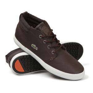 e28d0e7ea Lacoste Ladies Ampthill Terra Hi Brown Fur Lined Ankle Chukka Boots ...