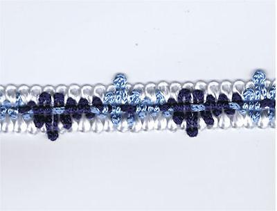 "Navy and White 5//8/"" Gimp Trim    #47033-BNW 36 Yard Bolt of Blue"