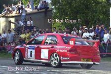 Freddy Loix Mitsubishi Lancer Evo WRC Tour De Corse Rally 2001 Photograph 4