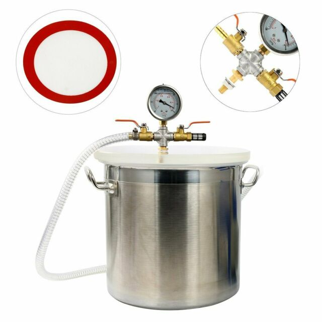 5 Gallon Vacuum Chamber Stainless Steel kit 160ºF Silicone Gasket Epoxies CA