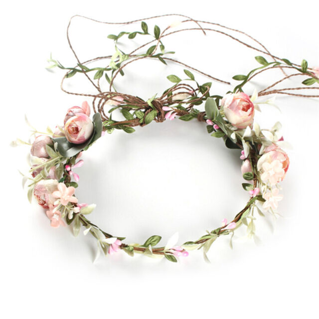 Women's Boho Flower Floral Hairband Headband Crown Party Bride Wedding Beach SZ