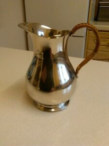 Vintage-Dutch-Silver-Plated-1-Pint-Milk-Cream-Jug-1711