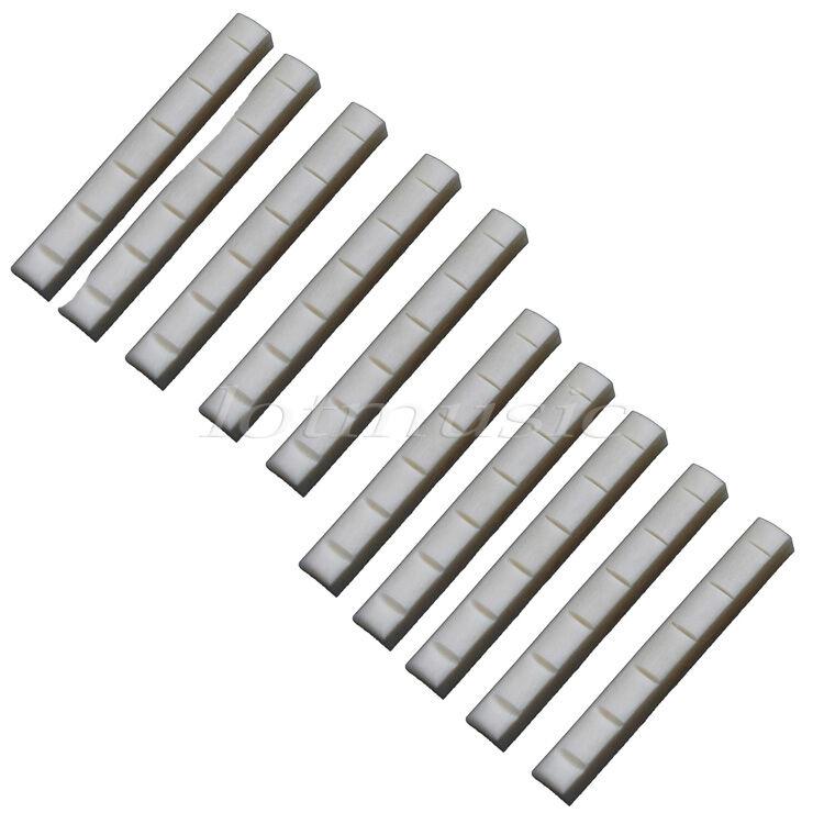 10 acoustic guitar neck bone nuts diy real bone guitar parts 634458306539 ebay. Black Bedroom Furniture Sets. Home Design Ideas