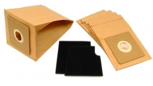 BAGS X5 AND FILTERS X2 REPLACEMENT BAGS FOR TESCO VC206 VACUUM CLEANER