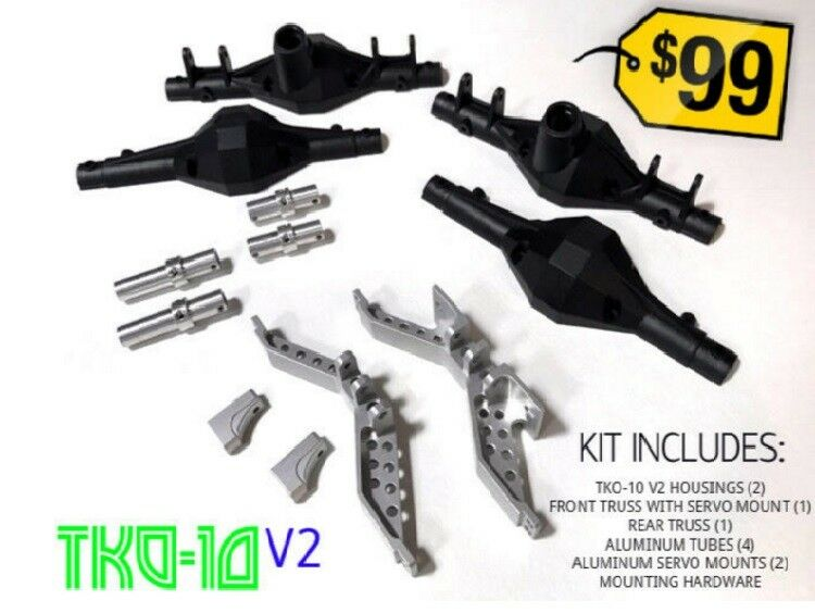 Team Ottsix Racing TKO-10 V2 Axle KIT for RC Crawlers OTT-TKO-10-V2-K