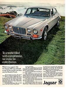 1972 JAGUAR XJ6  ~  CLASSIC ORIGINAL PRINT AD