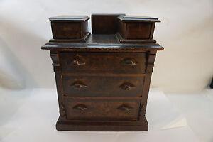 Antique Childs Dresser Doll Miniature Eastlake Victorian
