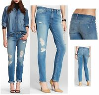 $248 Genetic Matchstick Lost Angel Skinny Straight Leg Distressed Jeans