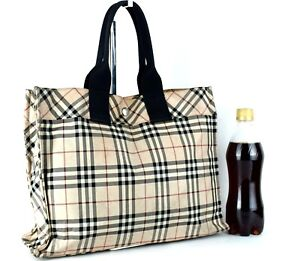 cfaf715cf5a8 Image is loading Authentic-Burberry-London-Blue-Label-Nova-Check-Handbag-