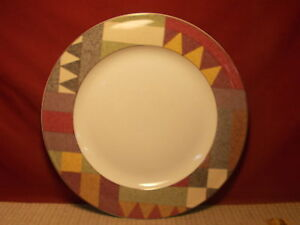 Image is loading Studio-Nova-Dinnerware-Palm-Desert-Pattern-Round-Platter- & Studio Nova Dinnerware Palm Desert Pattern Round Platter Chop Plate ...