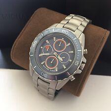 Michael Kors Men's Jet-Master Blue Dial Silver Tone Chronograph Watch MK8484 NWT