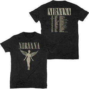 2199ae7dd NIRVANA T-Shirt In Utero BLACK Tour 1993 w/ Dates Authentic New S ...
