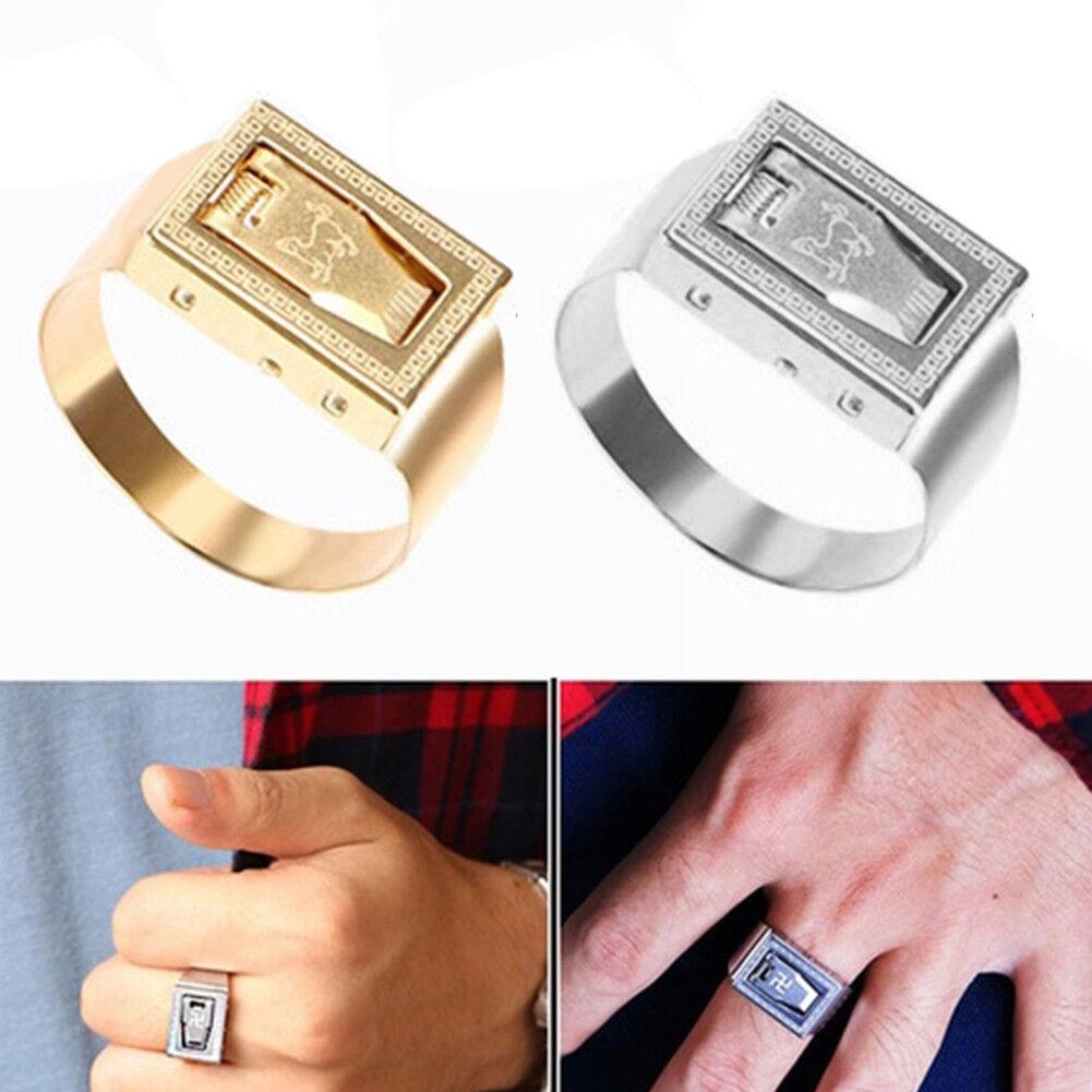 Mini Blade Hidden Weapon Multifunction Women/Man Self-defense Finger Ring Metal 2
