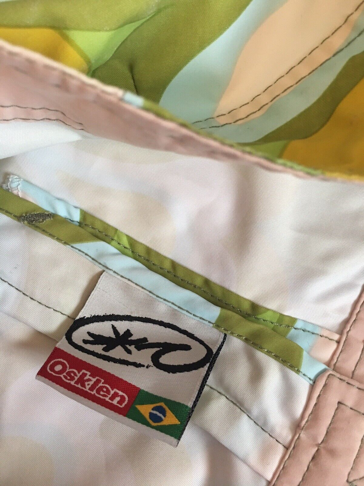 Osklen Brazil Multicolore Grafica Nuoto Nuoto Nuoto Tavola da Surf Frilly Pantaloncini Donna UK8 EU36 ab9a14