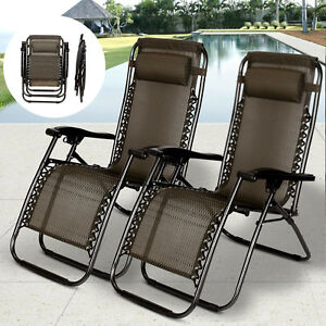 2-PCS-Zero-Gravity-Folding-Lounge-Beach-Chairs-Outdoor-Recliner-in-Black-Paid