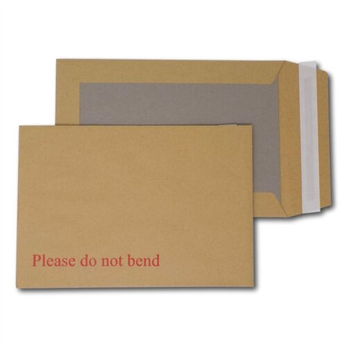 """10 A5//C5 PIP Board Backed Envelopes Peel /& Seal /""""Please Do Not Bend/"""" 238 x 163"""