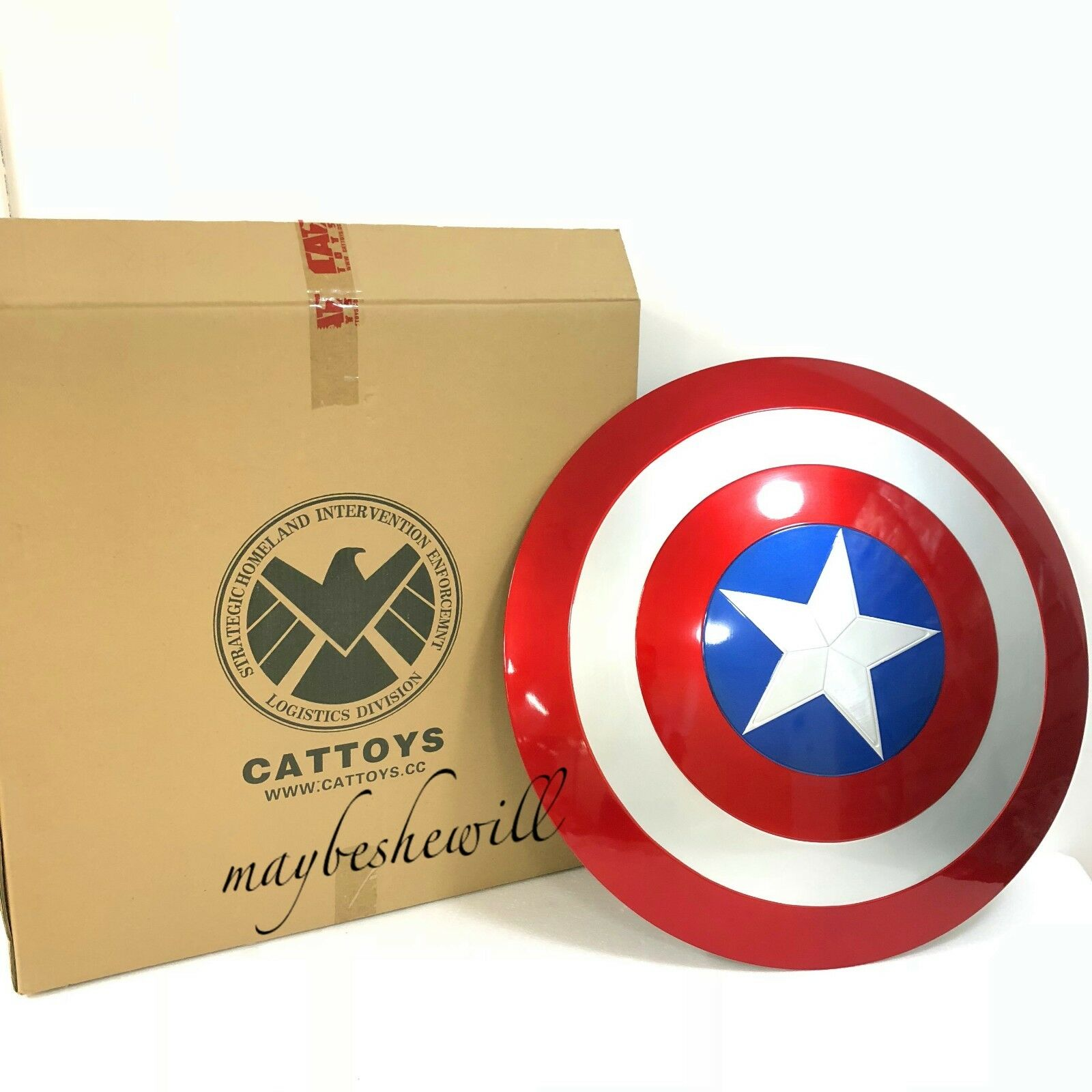 Cattoys 1 1 Avengers fin Captain America ABS Bouclier 22  cosplay à Collectionner eau