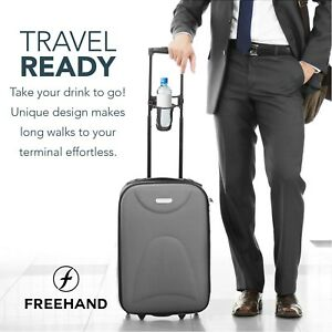 Freehand-Self-leveling-Luggage-Drink-Holder-Holds-Holds-cups-and-bottles