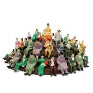 60pcs-1-87-Model-Train-Painted-People-Figures-All-Seated-Passenger-HO-Scale