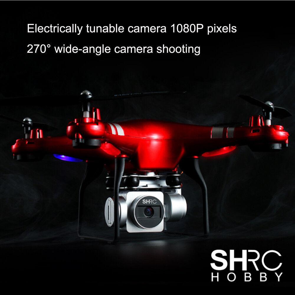 Sh5hd RC quadcopter 1080p gran angular-lente 270 ° giratoria HD cámara drone FPV