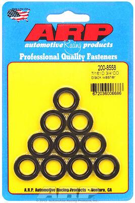ARP 7//16 ID 3//4 OD black washers Part No 200-8558