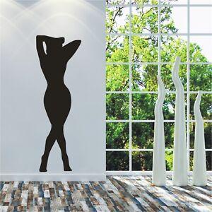 Schatten Wandtattoo  Frau in Sexy Pose Sex bis Lebensgröße Wandaufkleber6