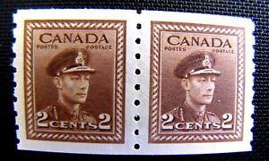 279 2c KING GEORGE VI PAIR, COIL MNH OG 1948 (SEE ITEM DESCRIPTION)