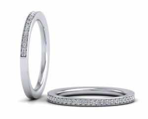 Solid-925-Solid-Sterling-Silver-Pave-Set-Half-Eternity-Wedding-Ring