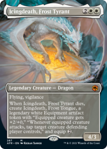 Icingdeath, Frost Tyrant - Borderless x1 Magic the Gathering 1x Adventures in th