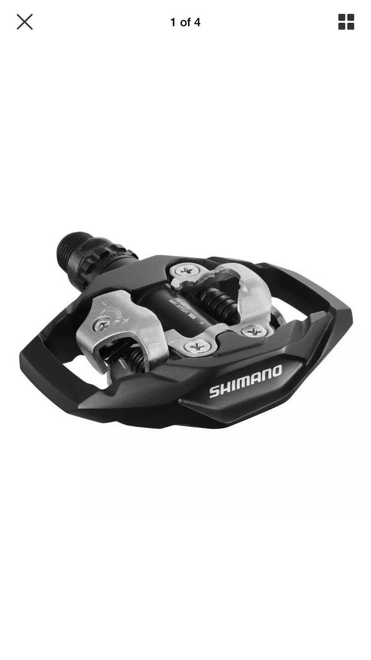 SHIMANO SPD M530 CLIPLESS PEDALS WITH CLEATS BMXMTB