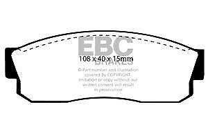 DP452 EBC Ultimax Front Brake Pads fit Cherry Sunny S-Cargo Sunny Van  Justy Sum