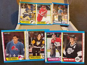 1989-90-O-Pee-Chee-Hockey-Ste-1-330-Sakic-Leech-Fluery-Linden-R-C