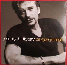 """JOHNNY HALLYDAY - CD SINGLE PROMO """"CE QUE JE SAIS"""""""