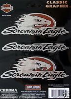 Harley Davidson Motorcycle Decal Sticker Screamin Eagle 3 Pack Bar Ride Bike