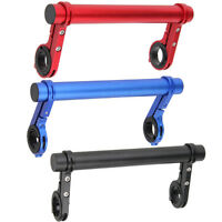 Bicycle Handlebar Extender Double Bracket Aluminum Black Blue Red Extra 20cm Bar