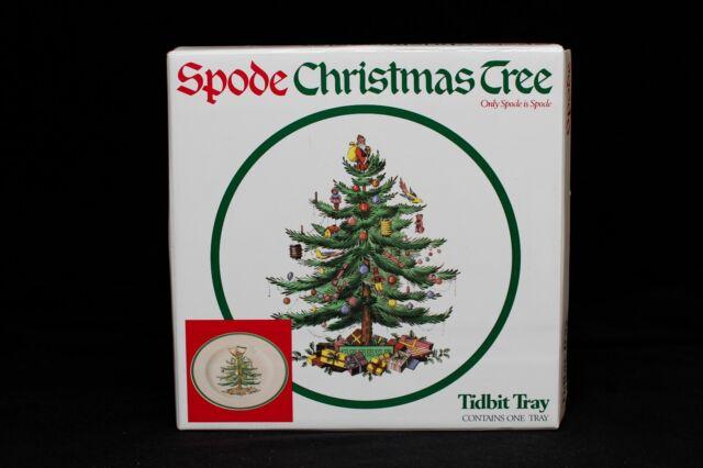 Spode China Holiday Christmas Tree Tidbit Tray Serving