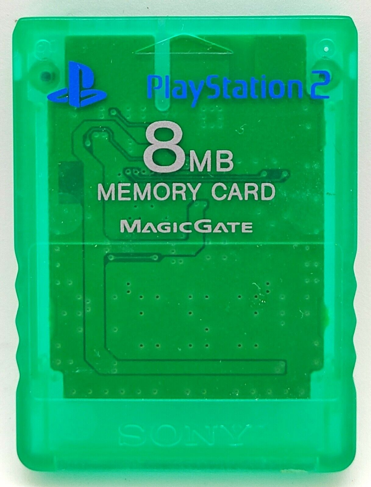 Official Genuine Green Magic Gate Memory Card for Sony PlayStation 2 PS2 8MB