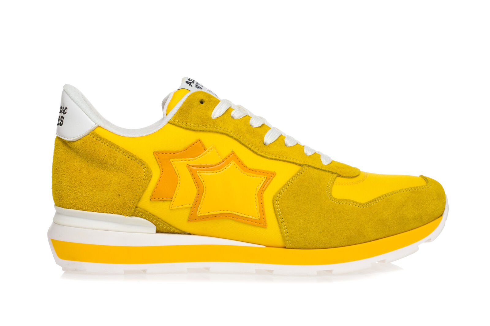 ATLANTIC STARS Mens Sneakers Shoes ANTARES Yellow Suede Leather Fabric Trainers