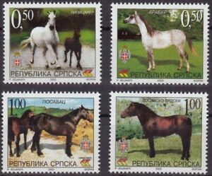 Bosnia - Rep. Srpska 2003 ☀ Fauna - Horses - set of 4 ☀ MNH **
