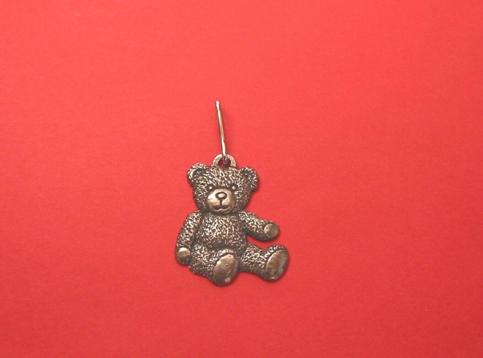 Teddy Bear Pewter Zipper Pull Teddy Bear Gift Mum Daughter Xmas Gift Teddy Gift