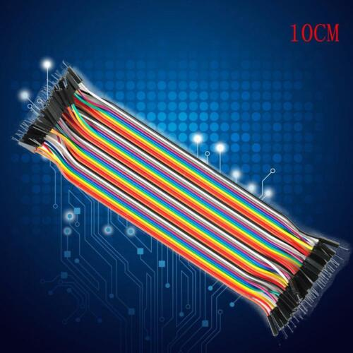 40X Dupont 10CM Male To Male Jumper Wire Ribbon Cable for Breadboard Ar TOP C5Q8