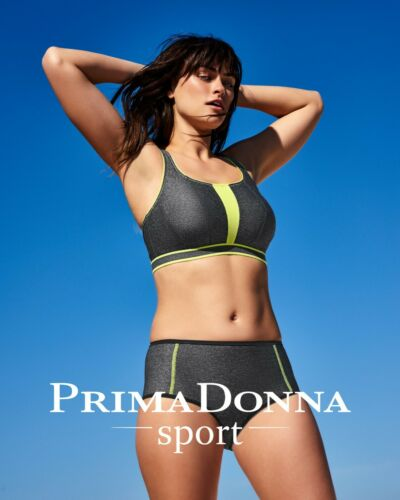 Prima Donna Sports Bra The SWEATER COSMIC GREY GREY YELLOW UNDERWIRED UNLINED 6000110
