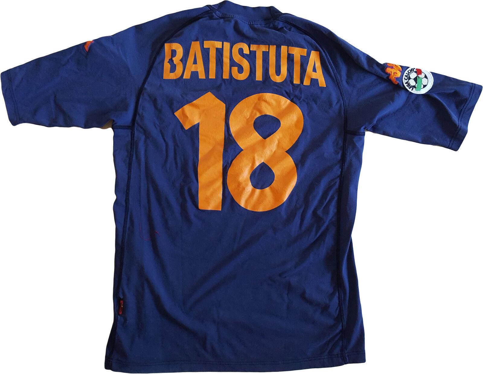 Maglia Batistuta ROMA scudetto 2000 2001 Kappa N0 match worn Ina Assitalia L