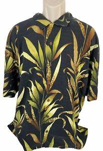 Vintage Tommy Bahama Polo Shirt Pocket Men Size XXL Printed Short Sleeve Button