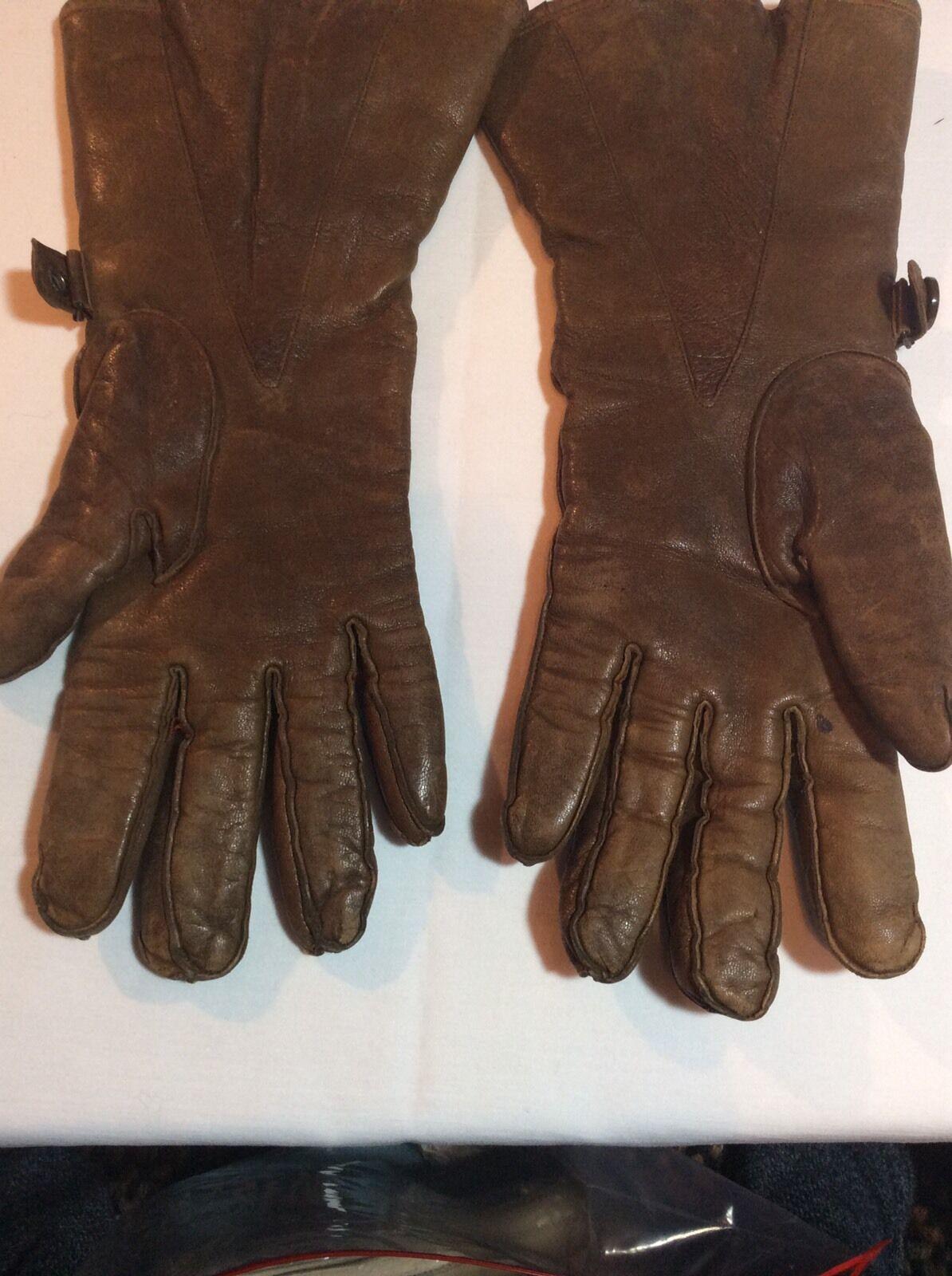 Vintage Hansen Ladies Leather Gauntlet Gloves - image 6