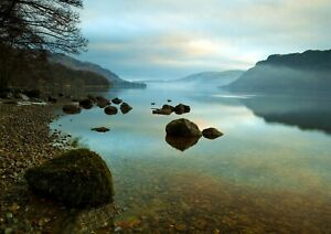Beautiful-Scenic-Lake-Poster-Print-Size-A4-A3-Nature-Art-Poster-Gift-8571